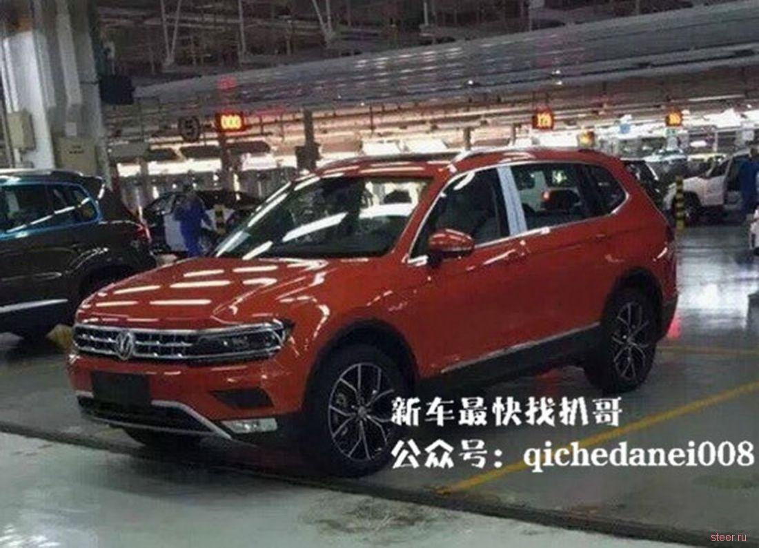 Первые фото удлиненного Volkswagen Tiguan