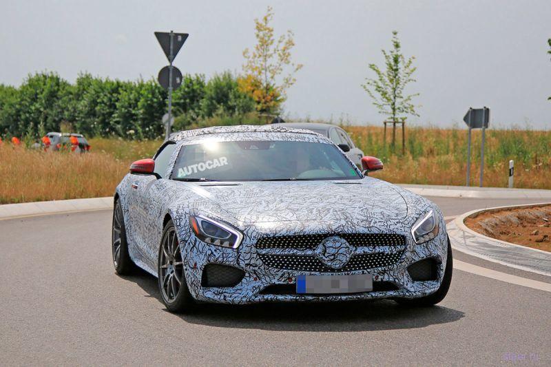 Первые фото родстера Mercedes-AMG GT