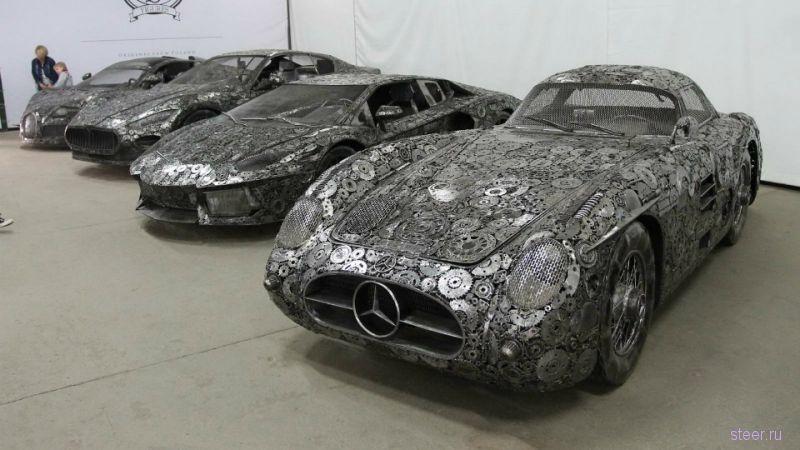 Артобъекты: копии Bugatti и Lamborghini из автохлама