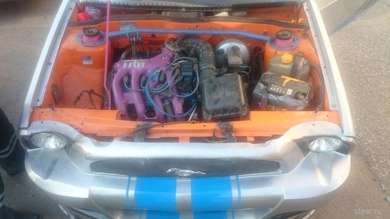Житель Омска привлечен к ответственности за переоборудование ВАЗ-21083 под Ford Mustang
