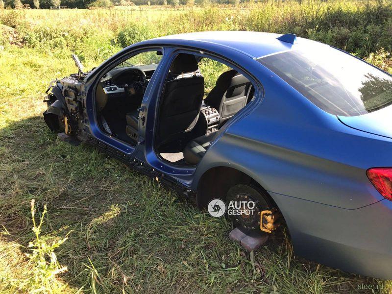 Ночной кошмар владельца: воры надругались над угнанным BMW M5 F10