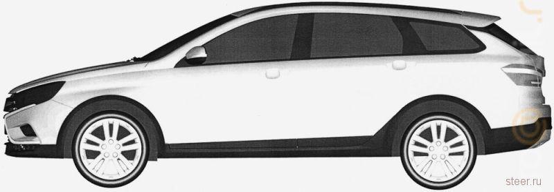 Официальные изображения универсала Lada Vesta Cross