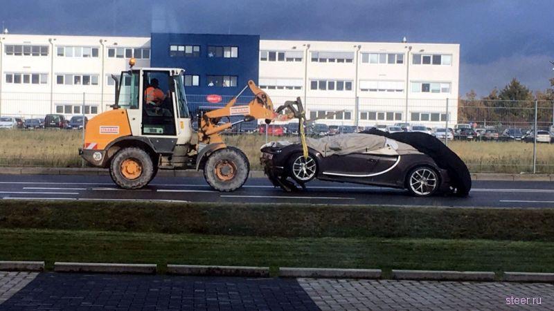 Первый выпущенный Bugatti Chiron разбили в Германии