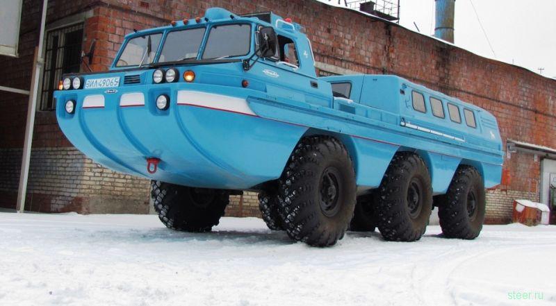 В Москве восстановили уникальный советский вездеход «Синяя птица»