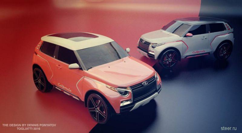 Рендеры нового поколения Lada 4×4