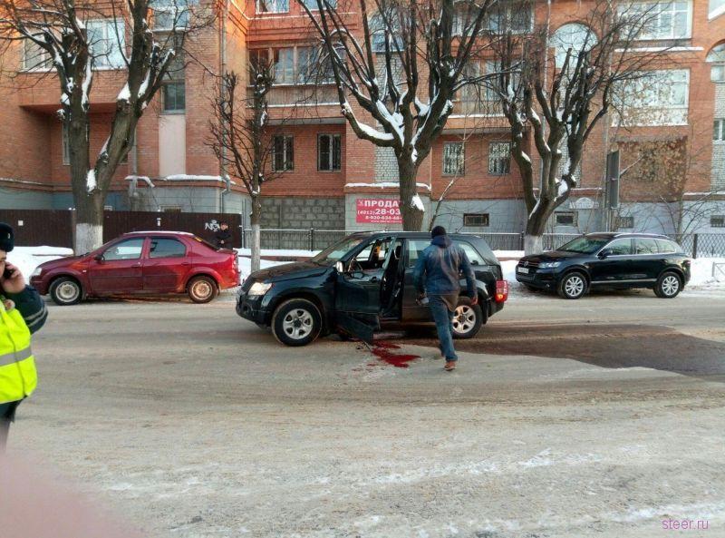 Взрыв автомобиля в Рязани
