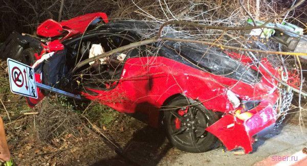 Пьяный техасец разбил Ferrari 458 Special