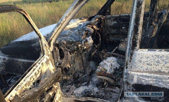 УАЗ Патриот сгорел на ровном месте
