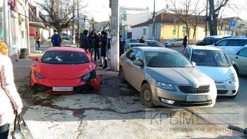 Lamborghini разбилась о Matiz в Симферополе