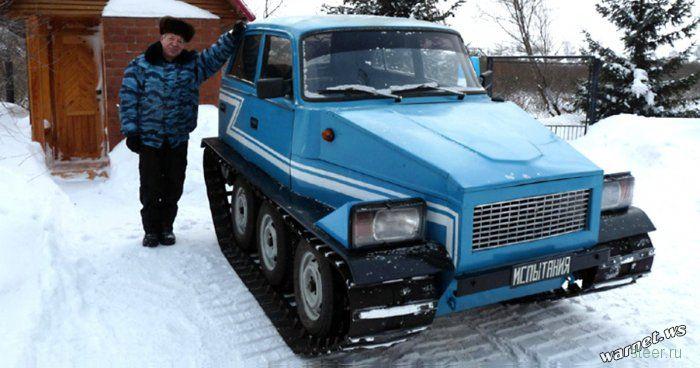 Кузбасский пенсионер собрал в гараже вездеход из Жигулей
