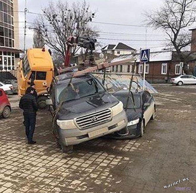 Горе-эвакуаторщик из Ставрополя