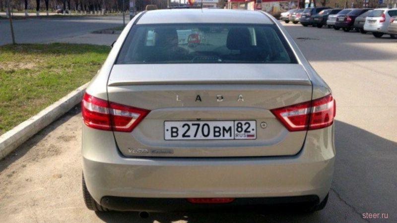 В Тольятти сфотографировали Lada Vesta в новой топовой версии Exclusive