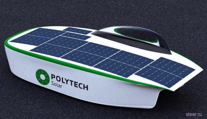 В России построят спортивный электромобиль Polytech Solar на солнечных батареях