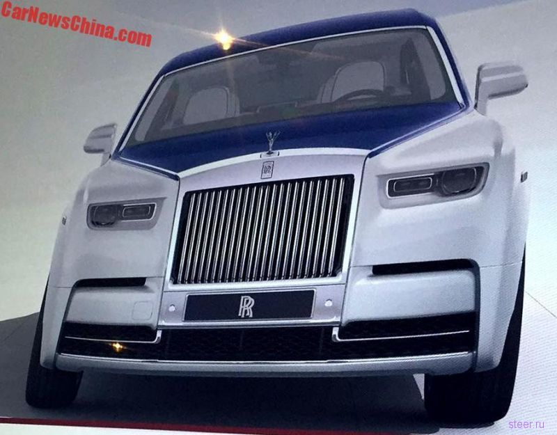 Первые фото нового Rolls-Royce Phantom без камуфляжа