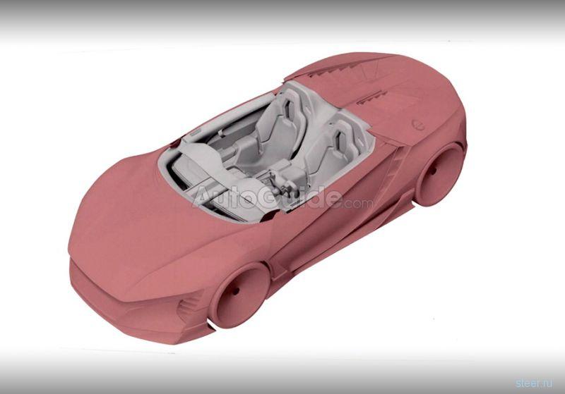 Первые изображения нового спорткара Honda с прямоугольным рулем