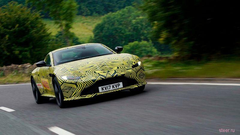 Первые фото нового спортивного купе Aston Martin Vantage