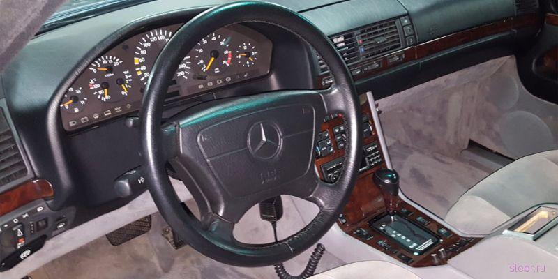 Бронированный Mercedes-Benz Бориса Ельцина продают за 20 млн рублей