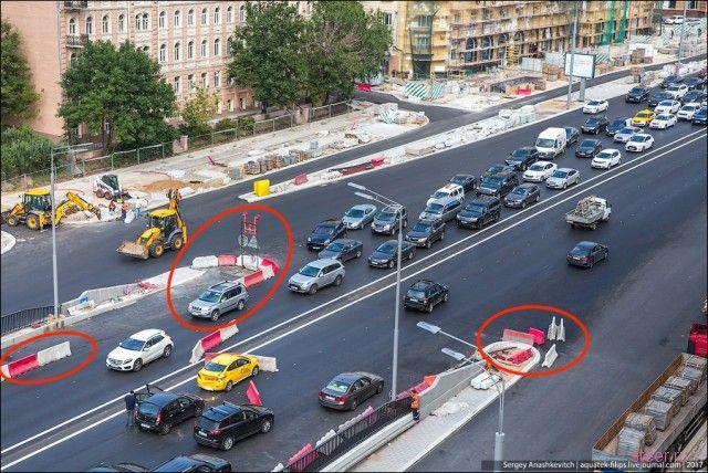 Как разбить машину из-за дорожников