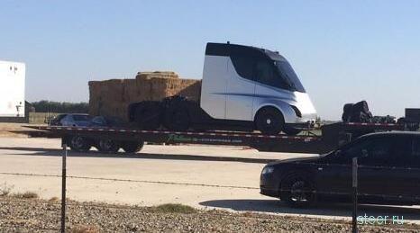Фотошпионы впервые засняли грузовик Tesla в Калифорнии