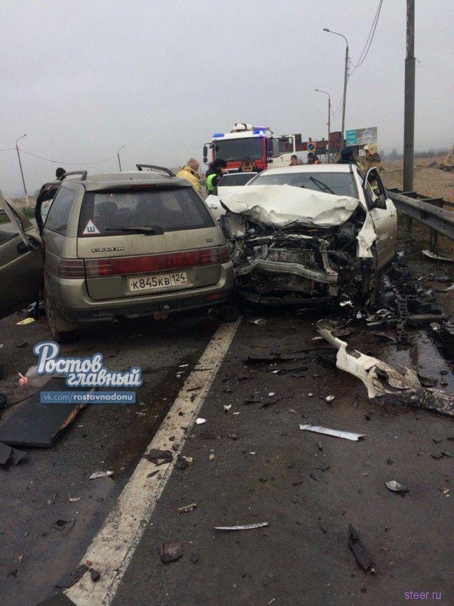 В Ростовской области девушка разбила 4 авто, чуть позже столкнулась лоб в лоб с ВАЗом, 2 человека погибли
