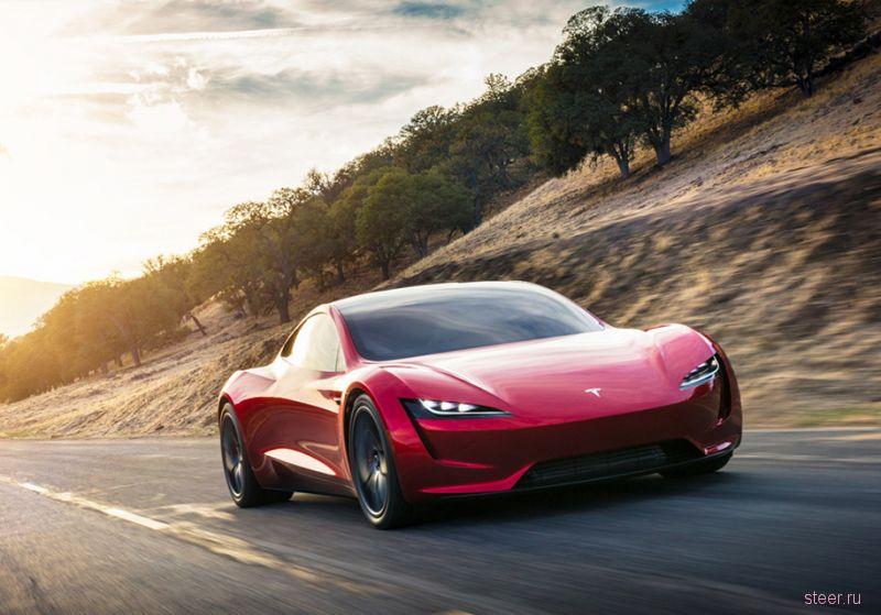 Новый Tesla Roadster: 10 000 Нм, 1,9 секунды до 96 км/ч и полный привод