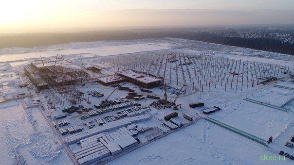 Первые фото со стройки завода Mercedes в Подмосковье