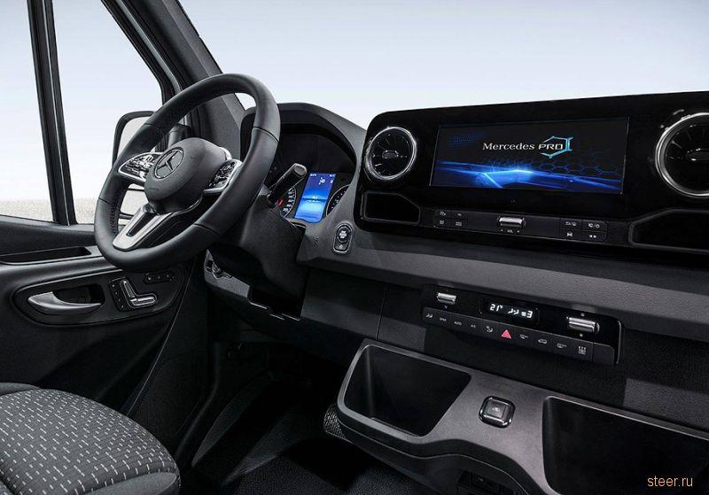 Первые фото интерьера нового Mercedes-Benz Sprinter