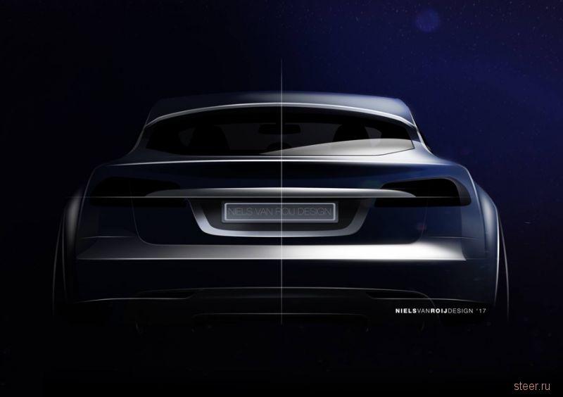 Первые изображения универсала на базе Tesla Model S