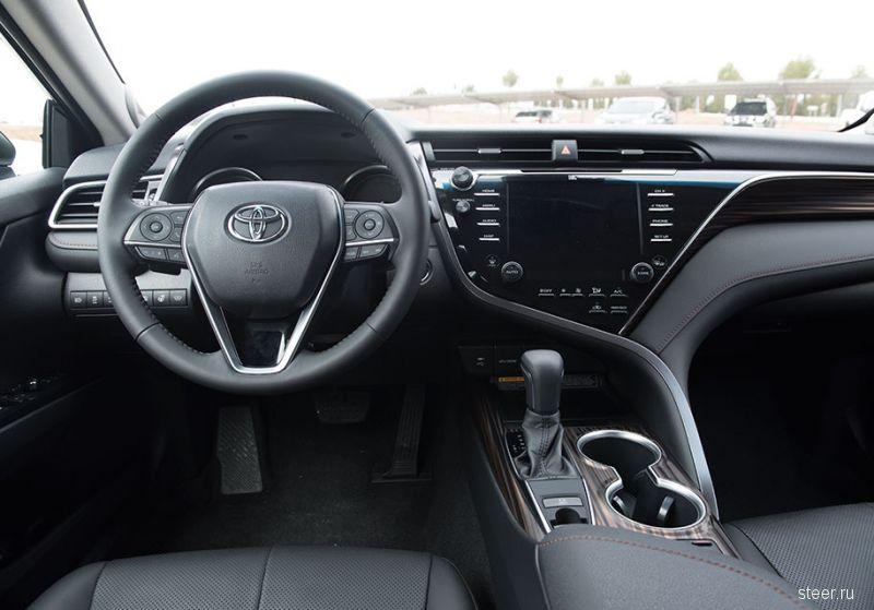 Объявлены комплектации и рублевые цены на новую Toyota Camry