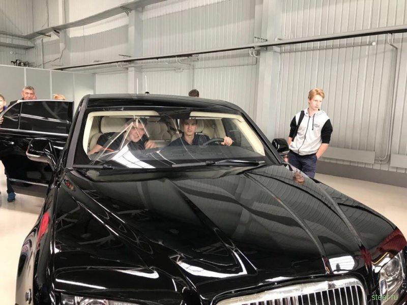 Дети рассекретили ранний прототип микроавтобуса Aurus Arsenal