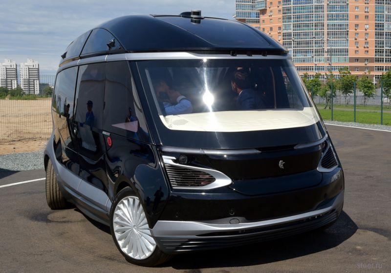 Представлен беспилотный микроавтобус «КАМАЗ»
