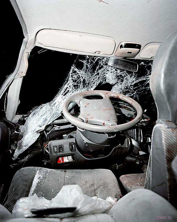 Автомобили внутри после страшных ДТП