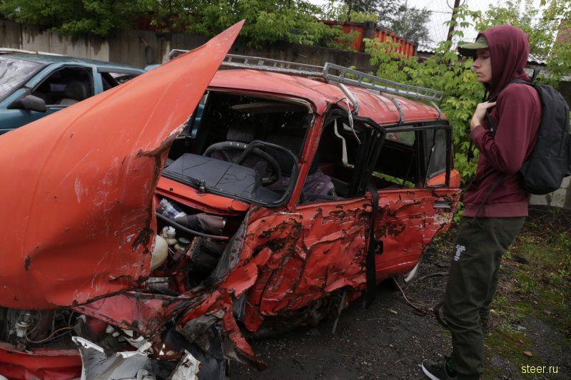 В Иркутске полиция организовала выставку разбитых автомобилей