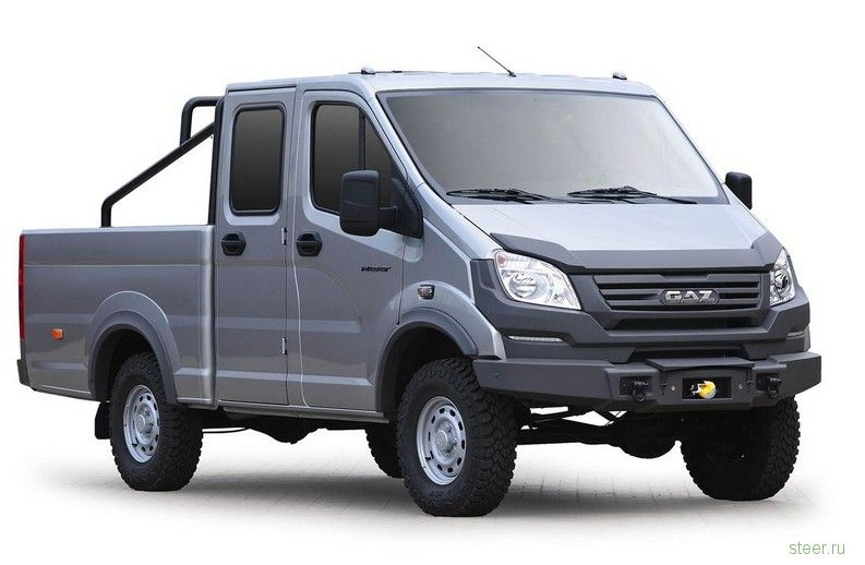 ГАЗ представил микроавтобус и пикап для экстремальных путешествий