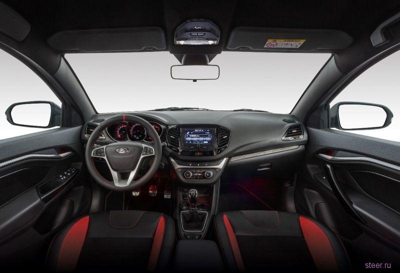 Красное на черном: официально представлен интерьер серийной Lada Vesta Sport