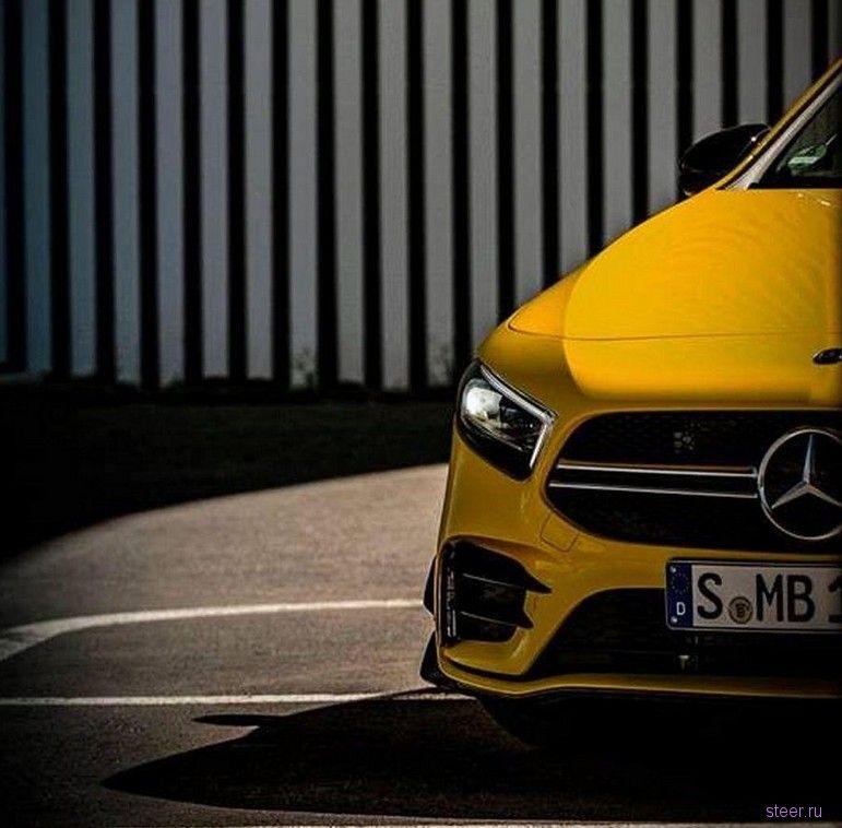 Первые фото самой доступной модели Mercedes-AMG хэтчбека Mercedes-AMG A35