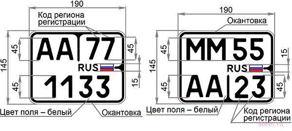 С 1 января в России вводят десять новых типов автомобильных номеров, включая «квадратные» для «праворулек»