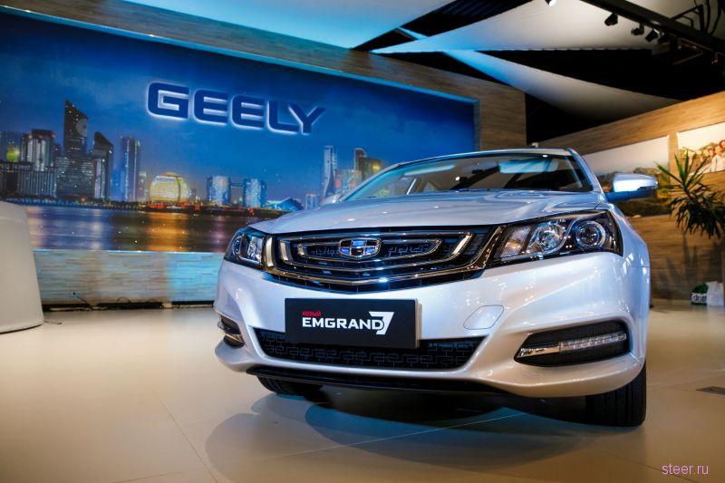 Начались продажи одновленного седана Geely Emgrand 7 белорусской сборки