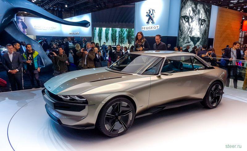 Peugeot e-Legend — самый стильный автомобиль Парижа