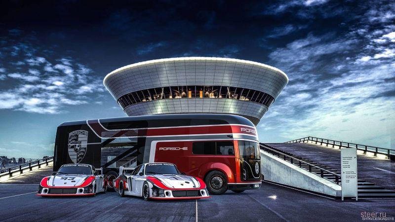Российский дизайнер придумал автобус для Porsche