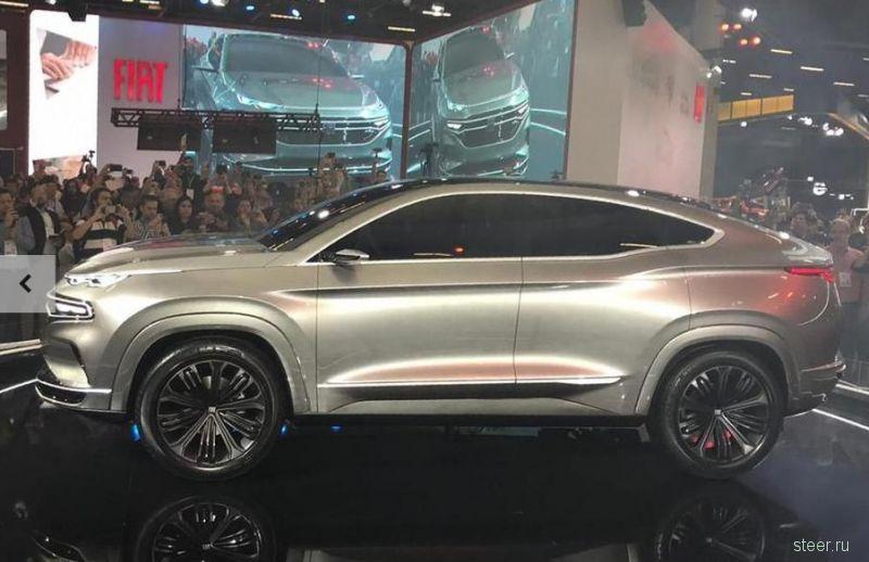 Fiat представил концепт серийного купе-кроссовера Fastback с покатой линией крыши