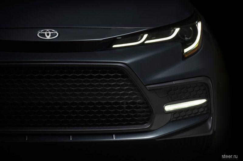 Первое изображение нового седана Toyota Corolla