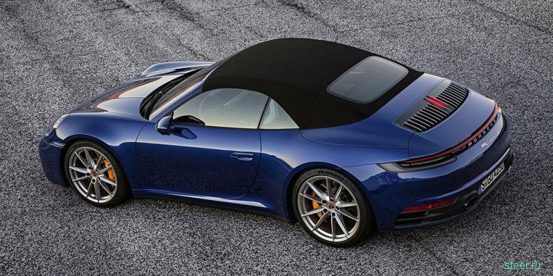 Новый кабриолет Porsche 911 : от 8 940 000 рублей.