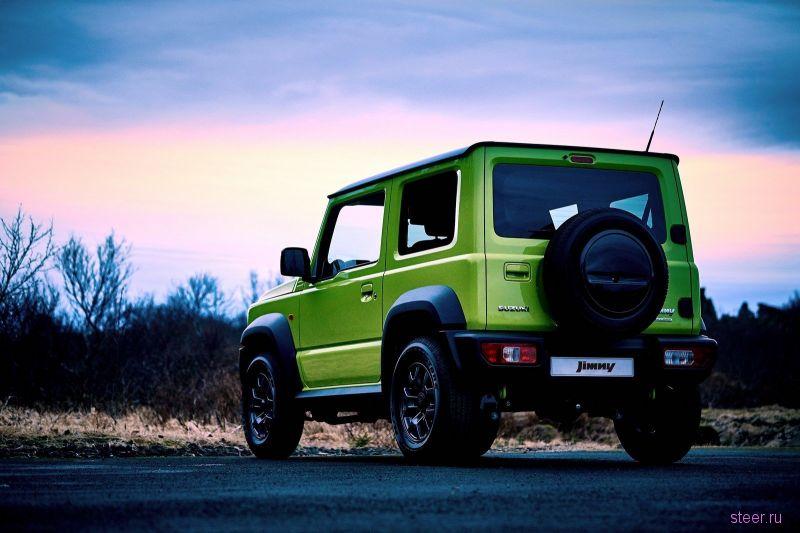Продажи нового Suzuki Jimny в России начнутся уже весной