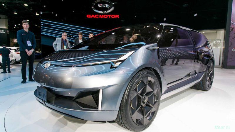 Китайская GAC показала стильный электрический минивэн Entranze EV