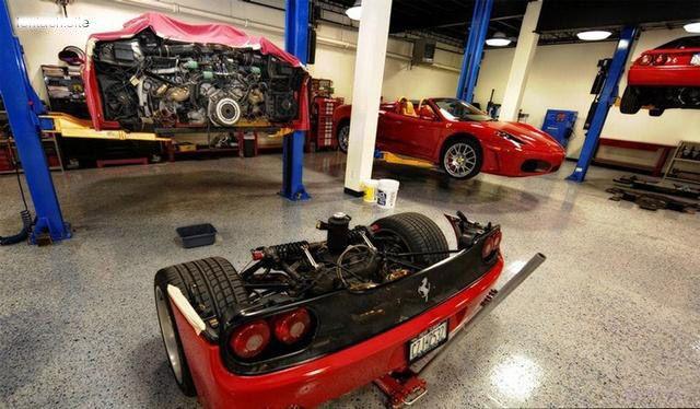 Как меняют сцепление на спорткаре Ferrari F50