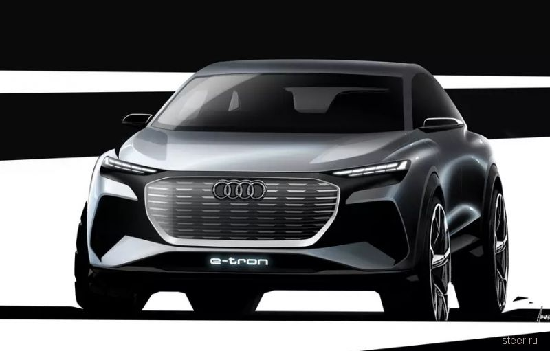 Первые изображения нового электрического кроссовера Audi Q4 e-tron