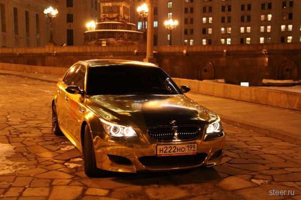 Московский стиль: Золотой BMW M5