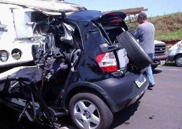 Итог набора SMS во время управления автомобилем (фото)