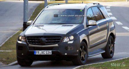 Шпионские снимки Mercedes-Benz ML 2012 (фото)